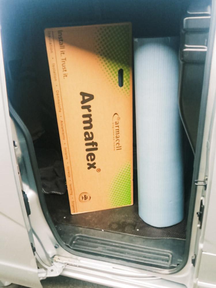 camper isoleren met armaflex