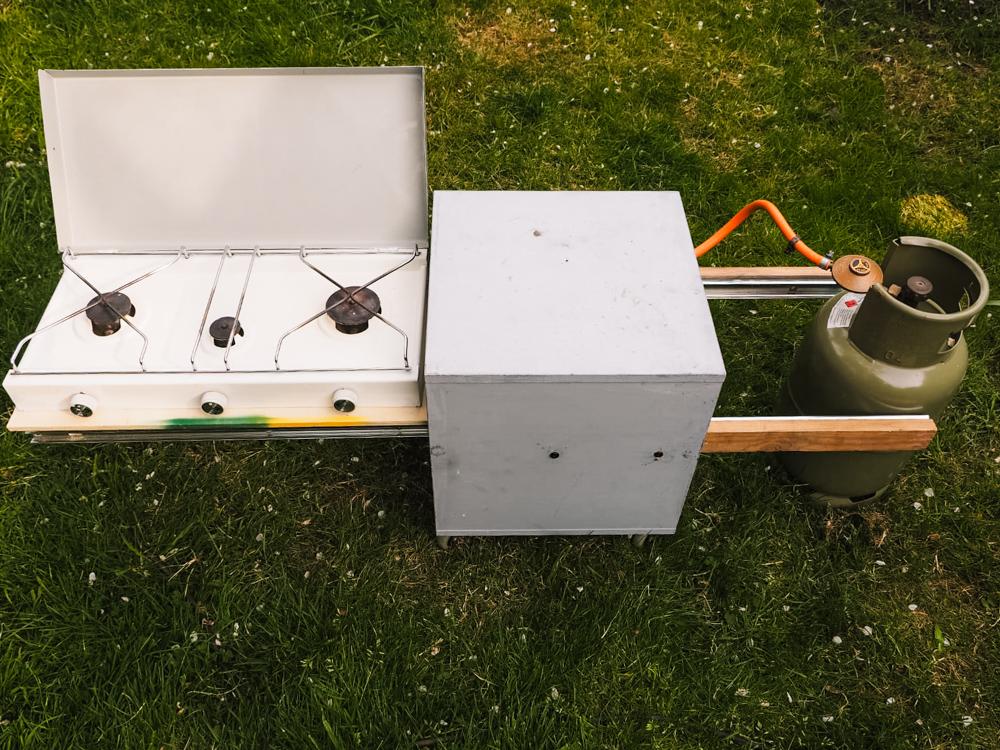 camper keuken bouwen zelfbouw kookpit blok
