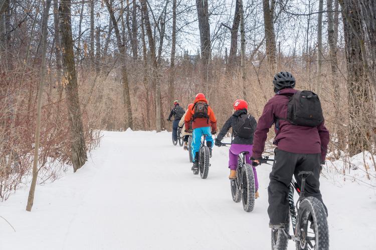 canada in de winter fatbike winterreis