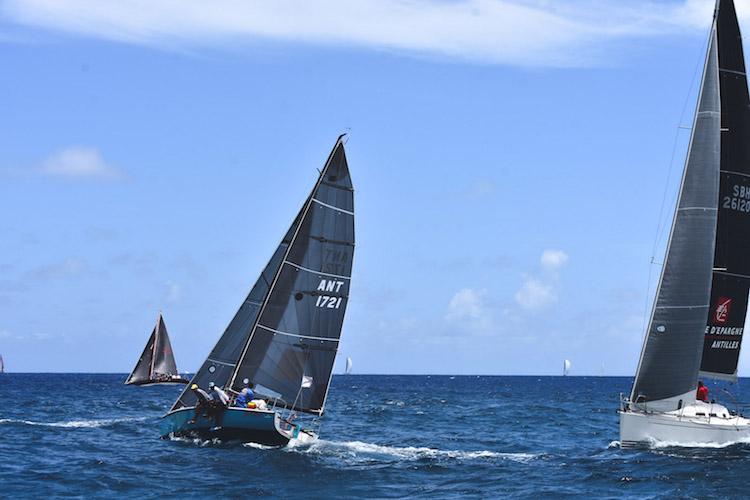 chase the race bij antigua barbuda antigua sailing week zeilschepen