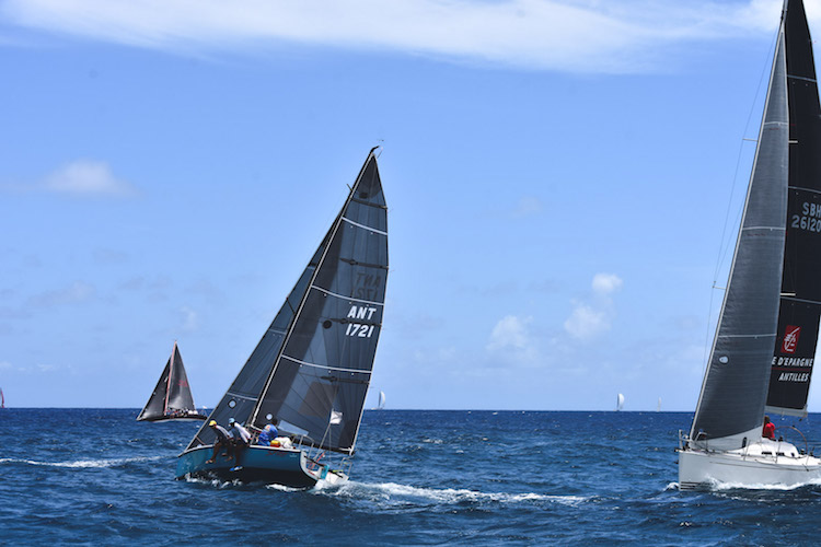 chase the race bij antigua barbuda antigua sailing week zeilschepen