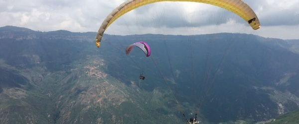chicamocha canyon Colombia paragliden