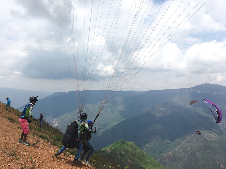 chicamocha canyon in Colombia paragliden