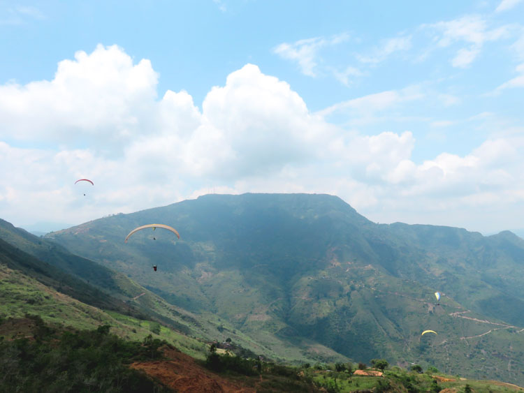 chicamocha paragliden Colombia