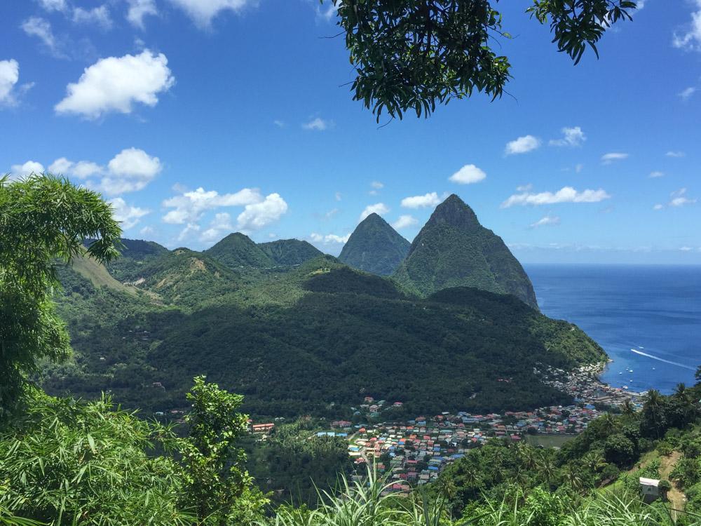cruise in het Caribisch gebied sint lucia