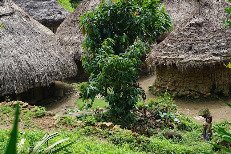 dorpje onderweg verloren stad colombia