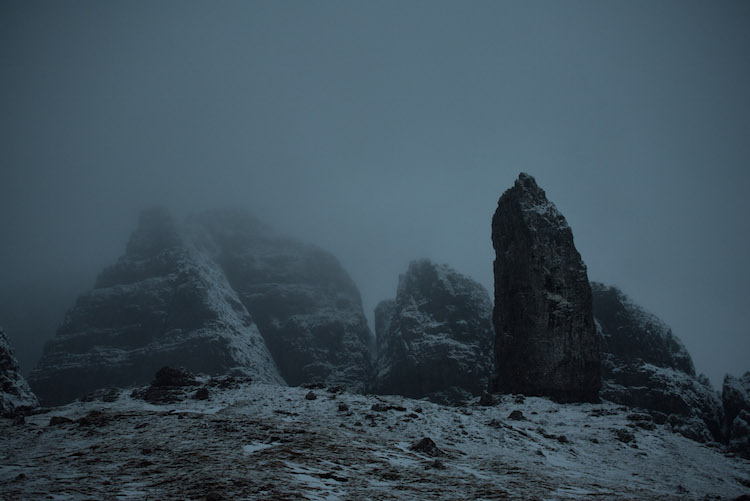 duister Old man of Storr schotland winter