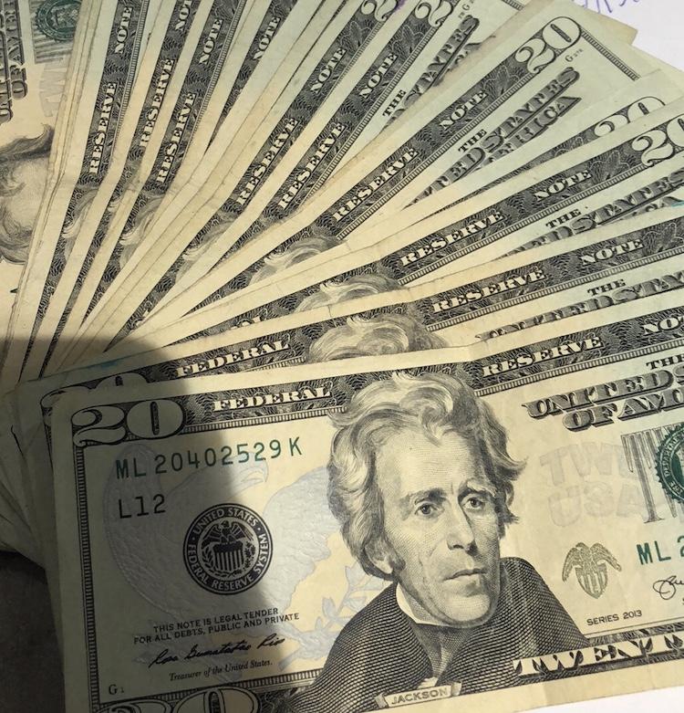 eerste keer amerika geld