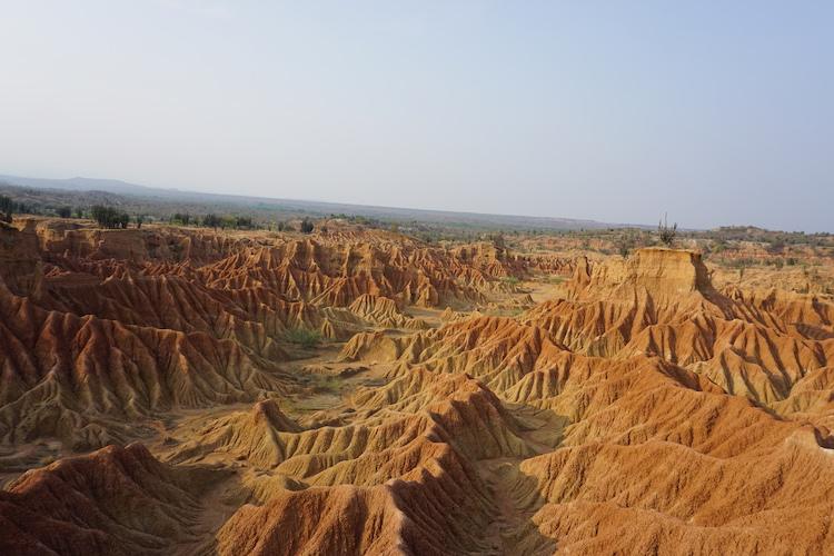 eindeloze woestijn tatacoa