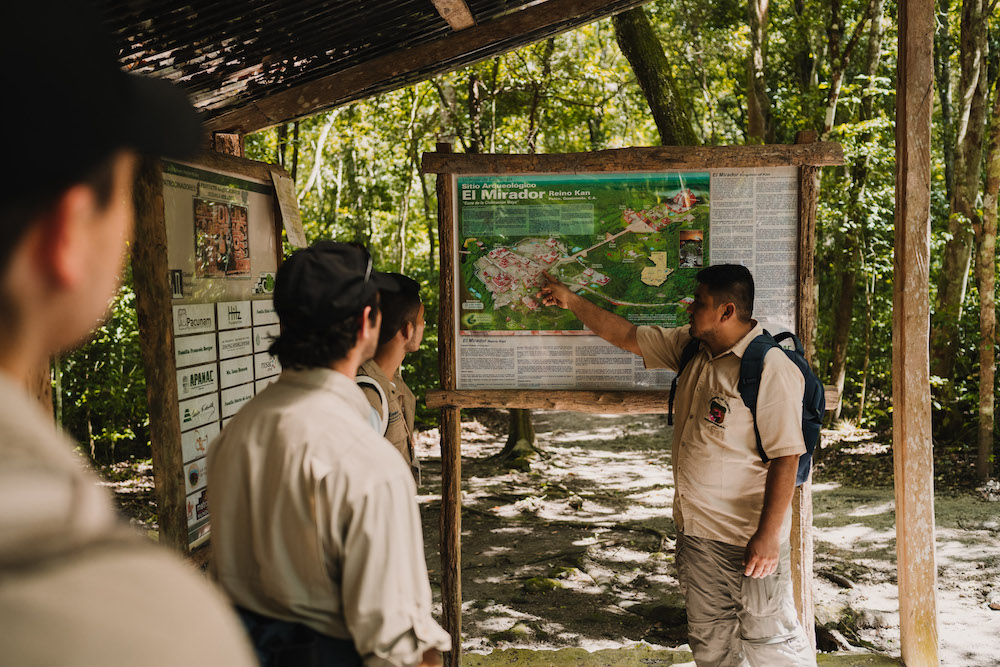 el mirador guatemala kaart