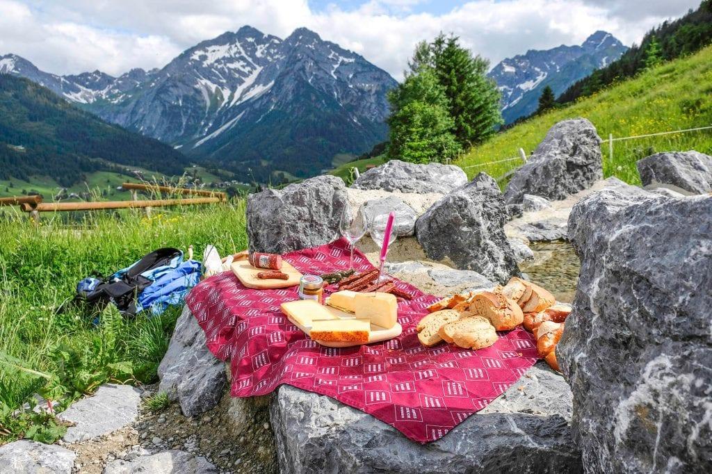 eten in Kleinwalsertal oostenrijk