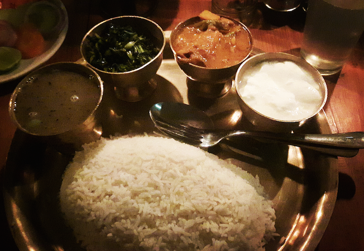 eten kathmandu nepal Dal Bhat