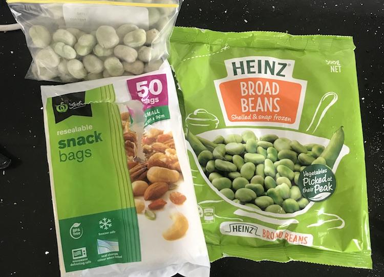 eten meenemen vliegtuig edamame Beans