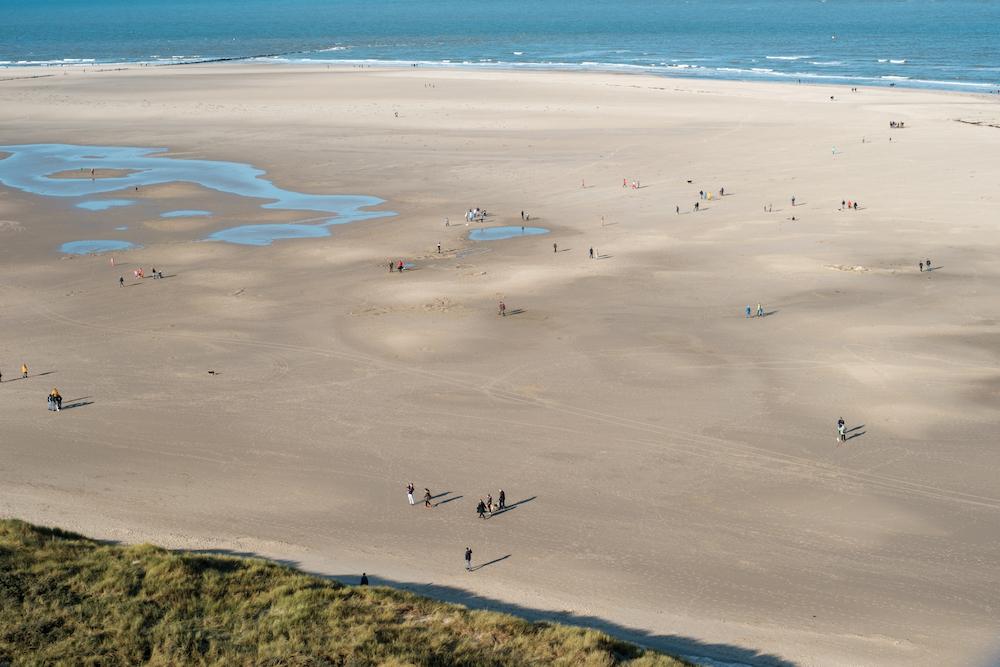 fiets vakantie texel uitzicht strand