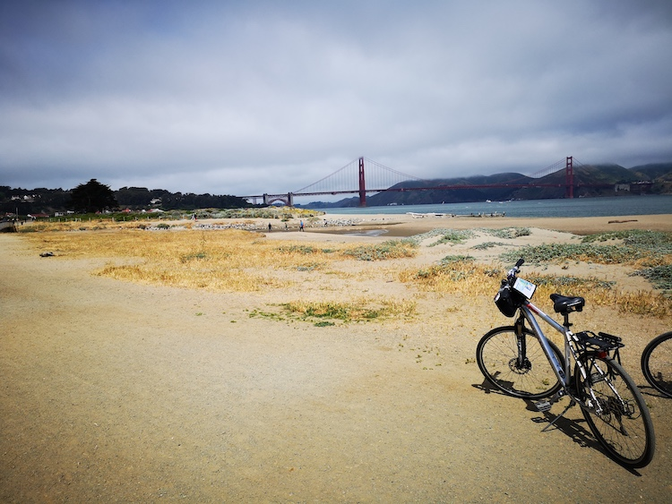 fietsen in san francisco strand