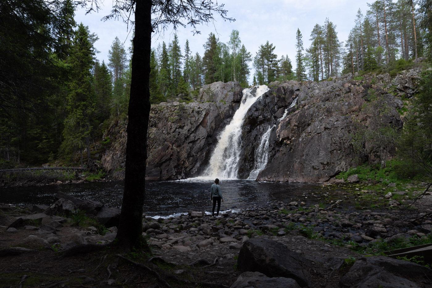 finland vakantie hepokongas waterval