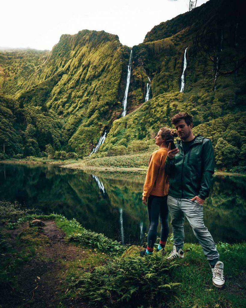 flores azoren watervallen