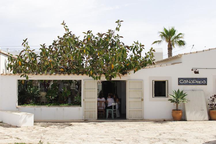 formentera huisje sinasappelboom