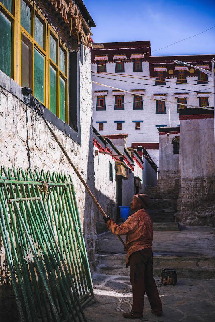 foto tibet dagelijks leven backpackreis