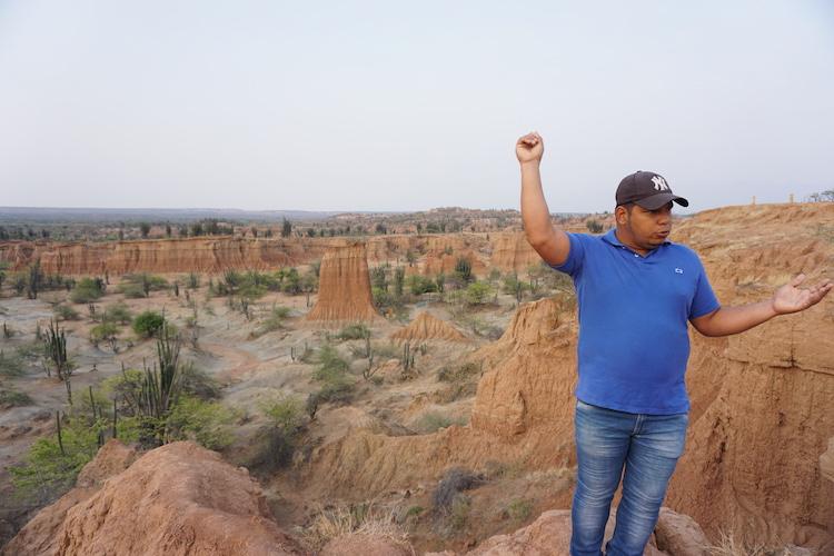 gids in tatacoa woestijn colombia