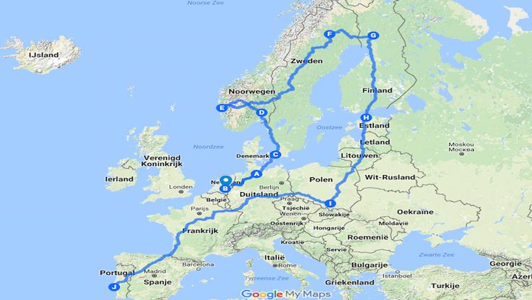 globale route camper euro trip