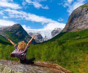 goedkoop naar noorwegen natuur gletsjer jostedal