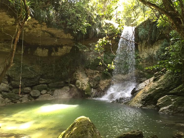 gozalandia upperfall puerto rico caribbean