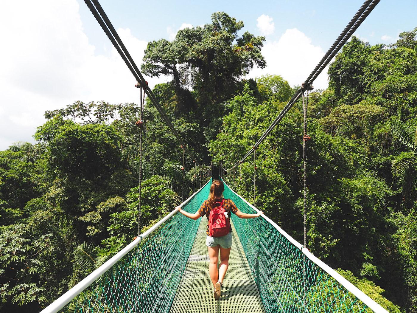 hangbruggen in costa rica jungle zip lining sky adventures