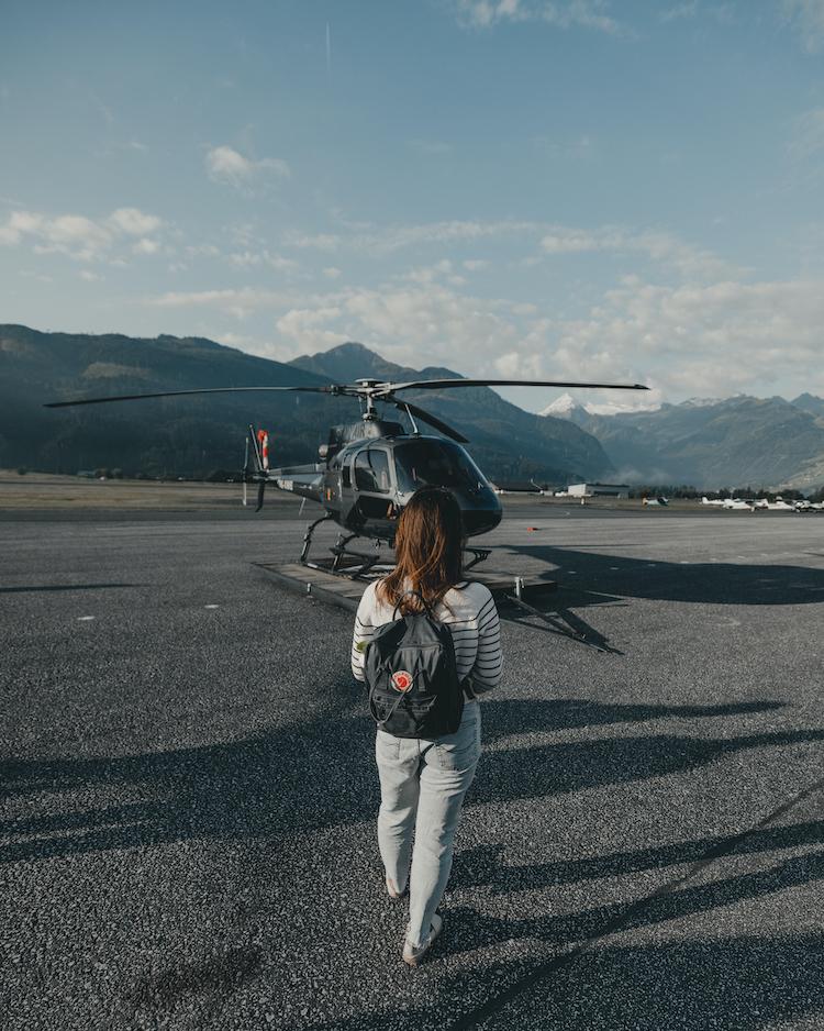 helicopter vlucht zomer zell am see kaprun