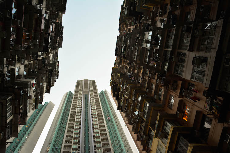 hoge skyscrapers in hong kong quarry bay