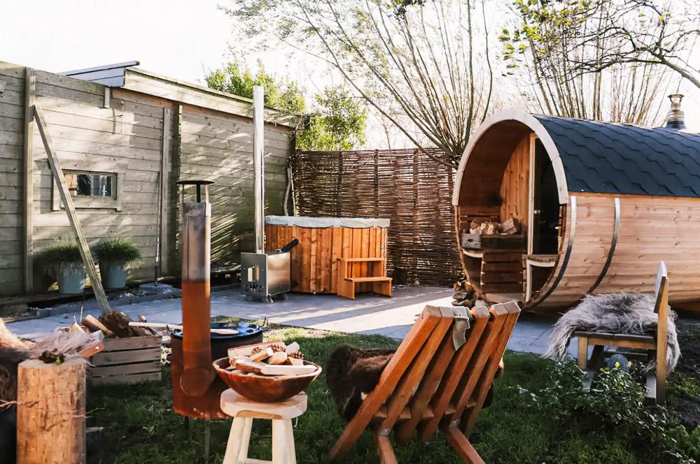 houten huisje zee