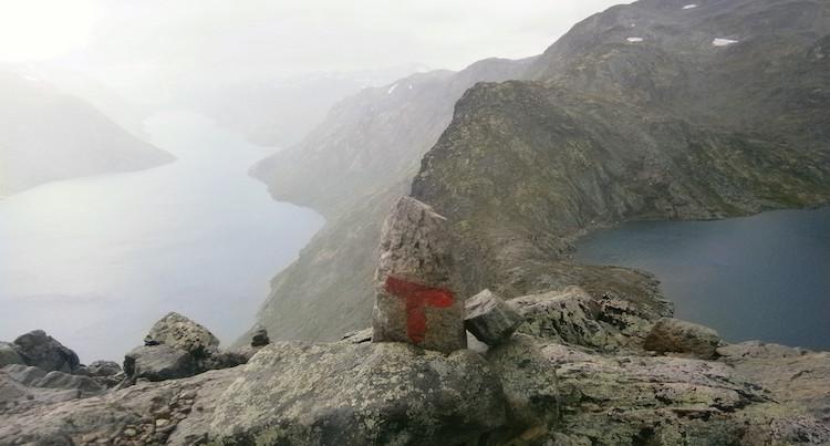 huttentocht noorwegen bewegwijzering