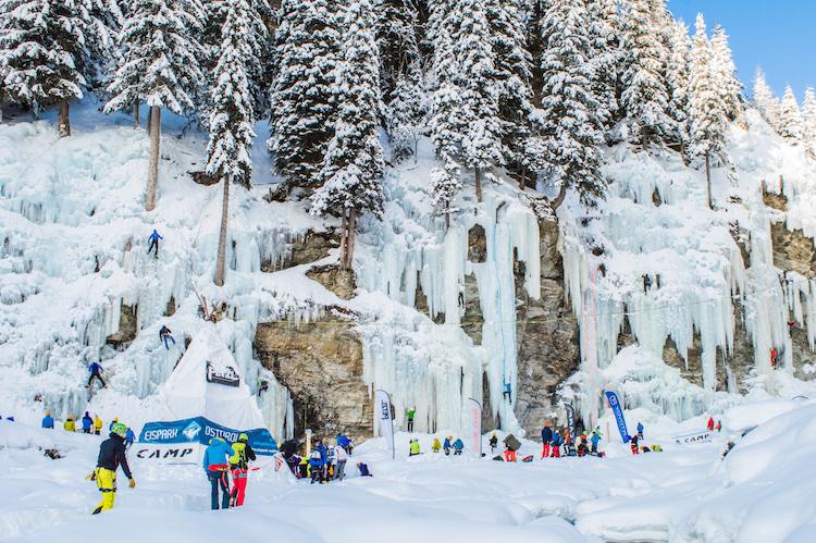 ijsklimmen in oostenrijk Eispark