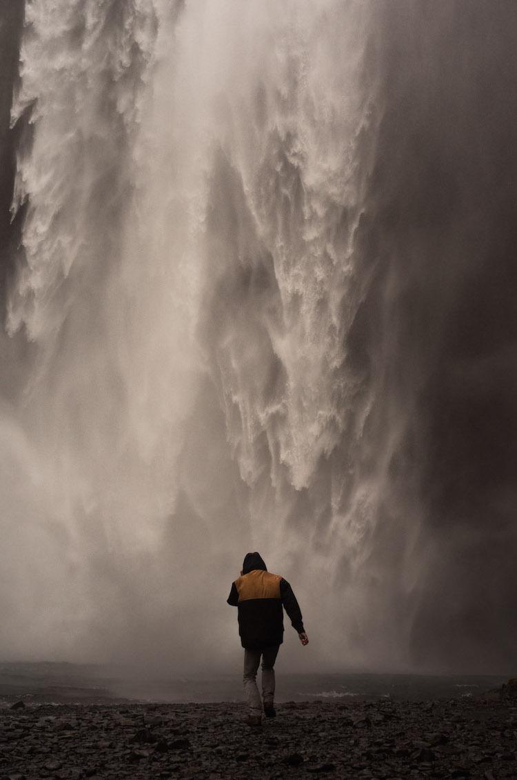 ijsland Skógafoss waterval