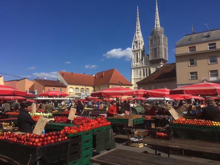 interrail naar kroatië zagreb plein