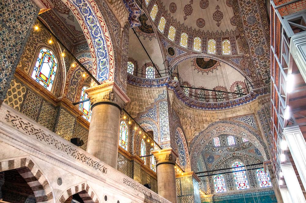 istanbul blauwe moskee binnen