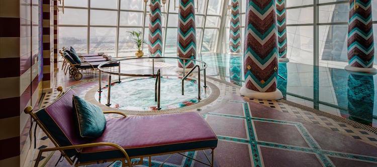 kamer in het zeven sterren hotel