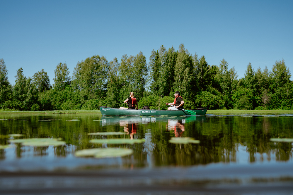 kanoen lapland zomer