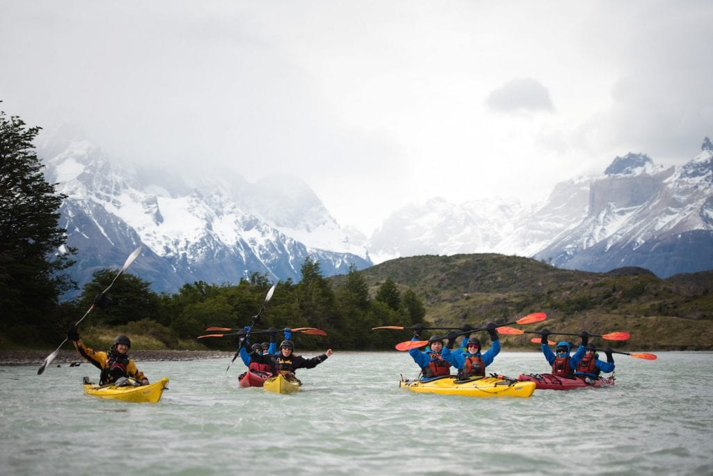 kayak patagonie backpacken