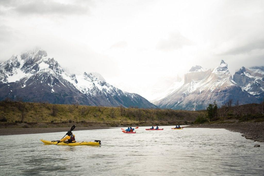 kayak Torres del Paine patagonie