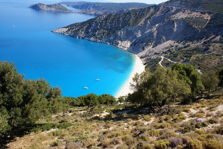 kefalonia-blauwe-baai-griekenland-strand