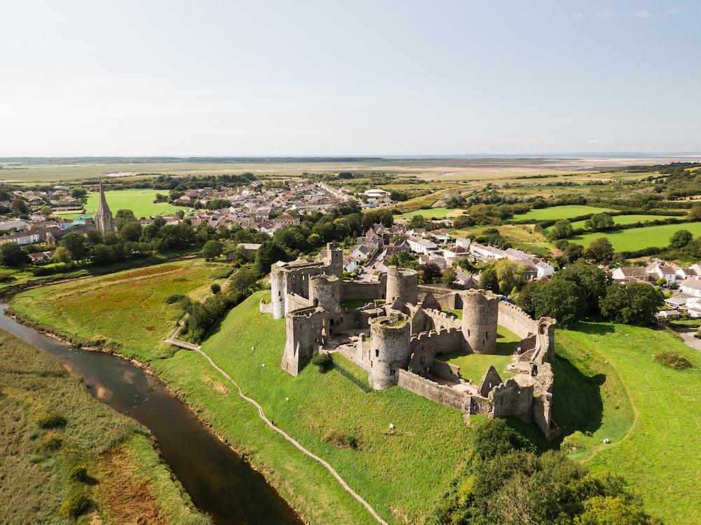 keltische kustroute Kidwelly Castle, Carmarthenshire (2)