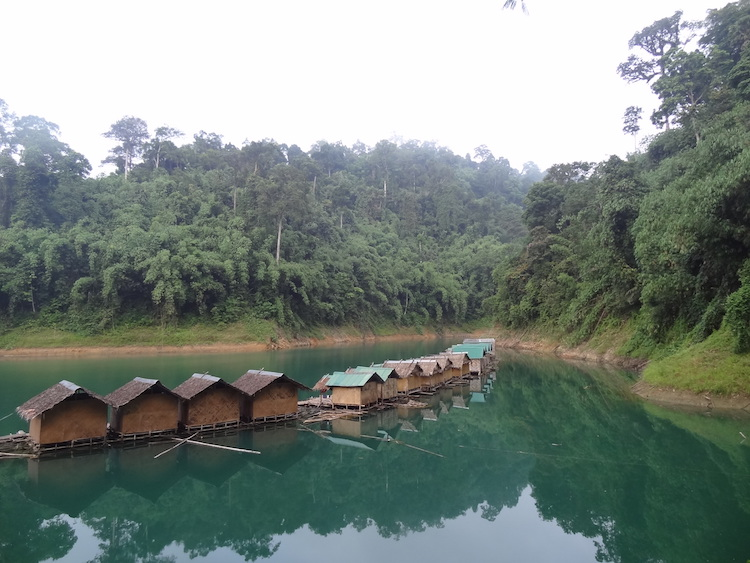 khao sok national park floating bungalows