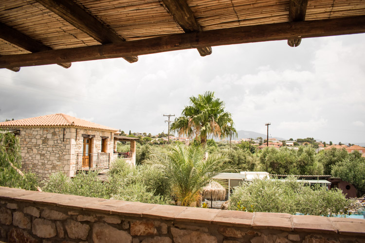 kleinschalige accommodatie zakynthos Grantzaos Villas uitzicht