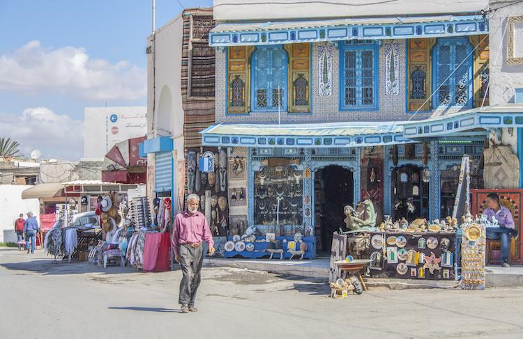 kleuren straten in tunesie