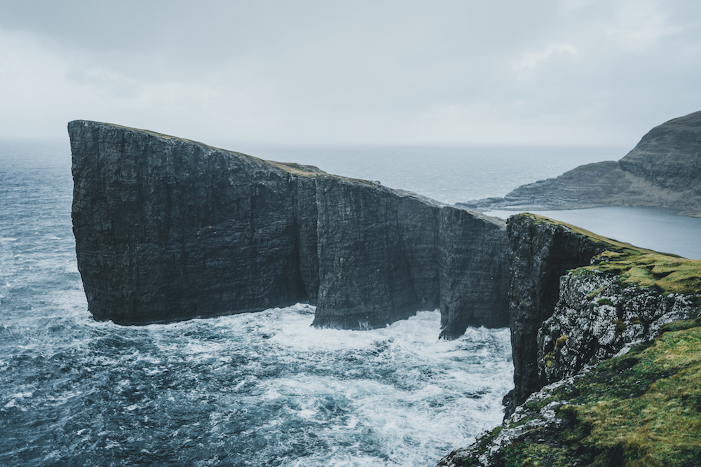 kliffen Faroer Eilanden vakantie
