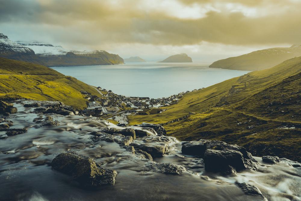 kliffen uitzicht Faroer Eilanden