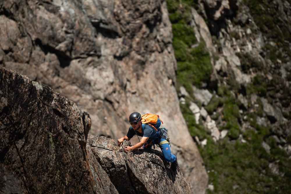 klimmer in zwitserse alpen