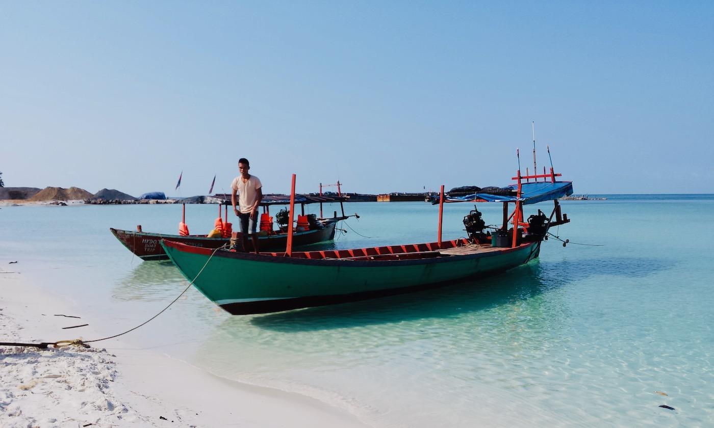 koh rong island cambodja boot
