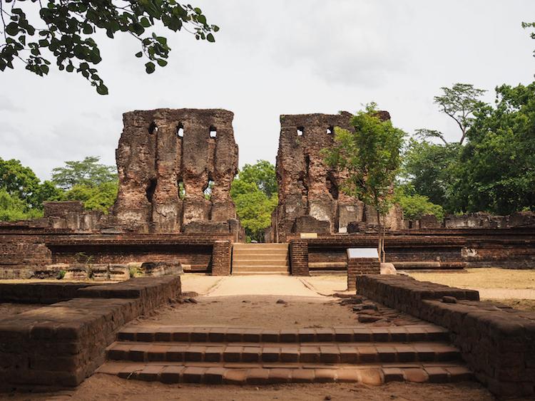 koninklijk paleis Polonnaruwa